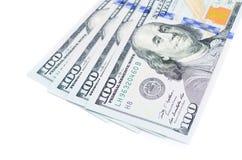 Hundra dollar sedlar Arkivfoto