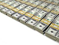 Hundra dollar sedlar Arkivbilder
