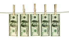 Hundra dollarräkningar Fotografering för Bildbyråer