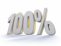 hundra en procent Arkivbild
