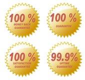 hundra en procent royaltyfri illustrationer