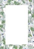 Hundra euroanmärkningsram Arkivbilder