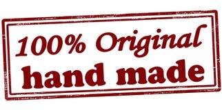 Hundra gjord procent original- hand - stock illustrationer