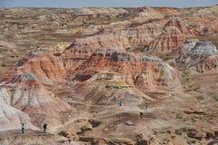 Hundra lager av färg i tusen år landskap Royaltyfria Bilder