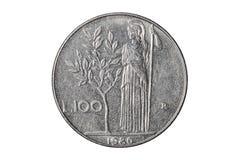 Hundra mynt för italiensk lira royaltyfria bilder