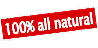 Hundra procent all naturligt Arkivfoto