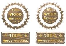 Hundra procent naturligt trä Arkivfoto