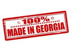 Hundra procent som göras i Georgia stock illustrationer