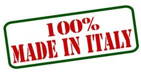 Hundra procent som göras i Italien stock illustrationer