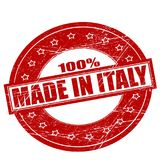 Hundra procent som göras i Italien royaltyfri illustrationer