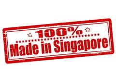 Hundra procent som göras i Singapore royaltyfri illustrationer