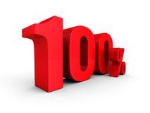 100 hundra röda bokstäver för procenttecken Royaltyfri Foto