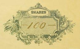 hundra shares en Arkivfoton