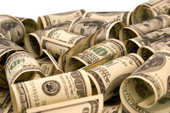 Hundra stapel för pengar för dollarbills Royaltyfri Bild