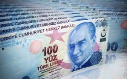 Hundra turkiska lira royaltyfri illustrationer