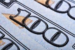 Hundra US dollarräkningar Arkivfoto