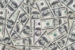 Hundratals nya Benjamin Franklin 100 dollarräkningar Royaltyfria Bilder