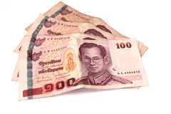 Hundred baht banks, thai money Stock Photo