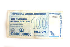 Hundred billion dollar note Stock Photo