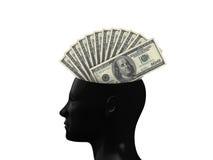 Hundred Bills on Mind Stock Images