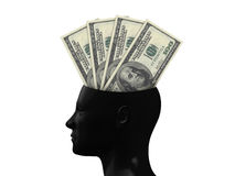 Hundred Bills on Mind Royalty Free Stock Photo