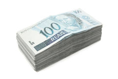 Hundred bills pile Royalty Free Stock Photos