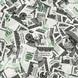 Hundred bills seamless vector wallpaper Royalty Free Stock Photos