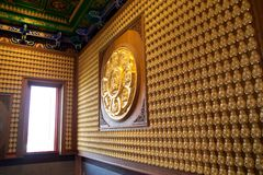 Hundred Buddha Room Royalty Free Stock Photo