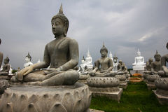 The Hundred of Buddha statues. The Field of Buddha statues in Sakaeo, Thailand stock photography