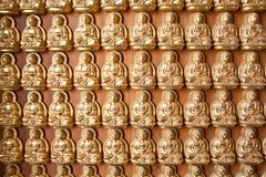 The Hundred Buddha wall Stock Photos