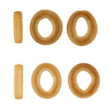 Hundred digit from russian crackers Stock Image