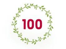 Hundred 100 digit on the white background vector illustration