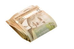 Hundred dollar. A fold of 100 dollar bills (with clipping path royalty free stock photo