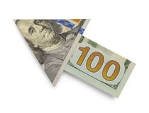 Hundred Dollar Arrow Stock Photography