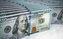 Hundred dollar banknote depth of field Royalty Free Stock Images