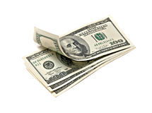Hundred dollar banknotes Royalty Free Stock Images