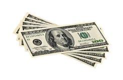 Hundred dollar banknotes Stock Photo
