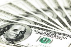 Hundred dollar banknotes Stock Image