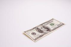 Hundred dollar bill. Isolated hudred dollar bill Royalty Free Stock Images