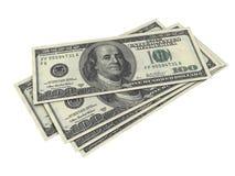 Hundred Dollar Bill. Five hundred dollar bills on white background Stock Photography