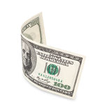 Hundred dollar bill. On white, soft drop shadow Royalty Free Stock Photos