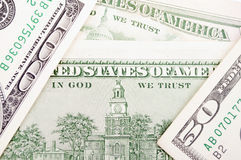 Hundred Dollar-bill back Stock Photography