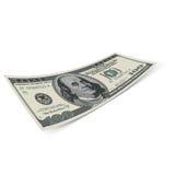 Hundred dollar bill. Royalty Free Stock Photo