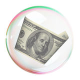 Hundred dollar bill  into bubble Royalty Free Stock Image