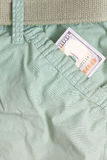 Hundred dollar bill inside front pocket pants Royalty Free Stock Photo