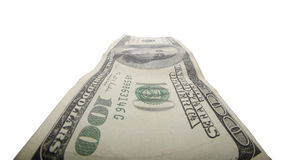 Hundred dollar bill isolated Royalty Free Stock Image