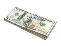 Hundred dollar bill Stock Images