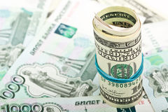 Hundred Dollar Bill Macro Stock Photography