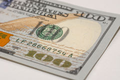 Hundred dollar bill, macro photography Royalty Free Stock Photo