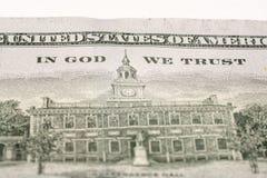 Hundred dollar bill, macro photography Stock Photo